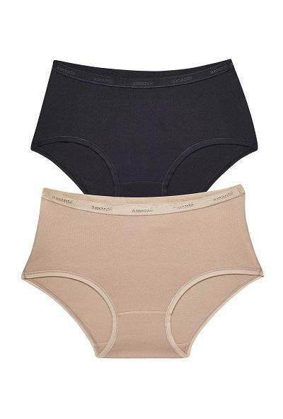 Low-rise Boyshort Black & Nude (Pack of 2) - Black-SandalwoodColor