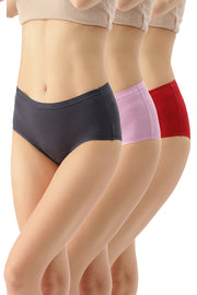 Solid Full Brief Panty (Pack of 3) - AssortedColor