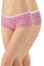 Solid Low Rise Boyshorts (Pack of 2) - AssortedColor