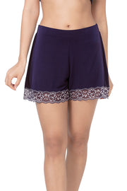 Lace Touch Sleep Shorts - Midnight Color