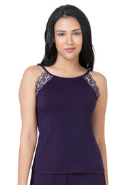Lace Touch Sleep Camisole - Midnight Color