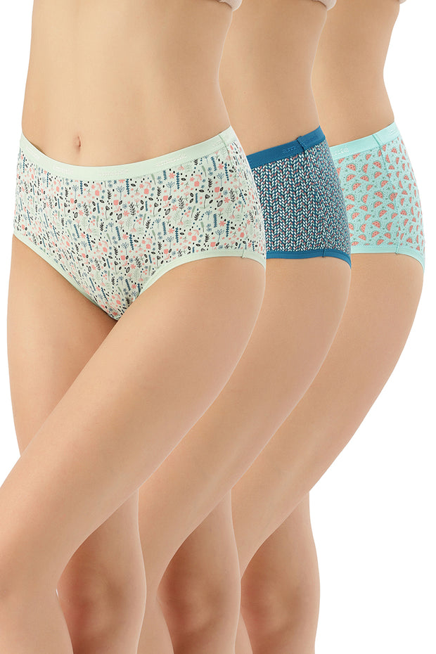Printed Full Brief Panty (Pack of 3) - AssortedColor
