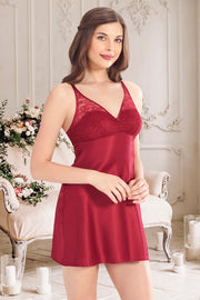 Beautiful Dreamer Satin Lace Chemise