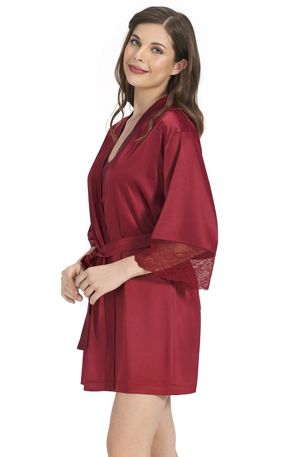 Beautiful Dreamer Satin Lace Robe