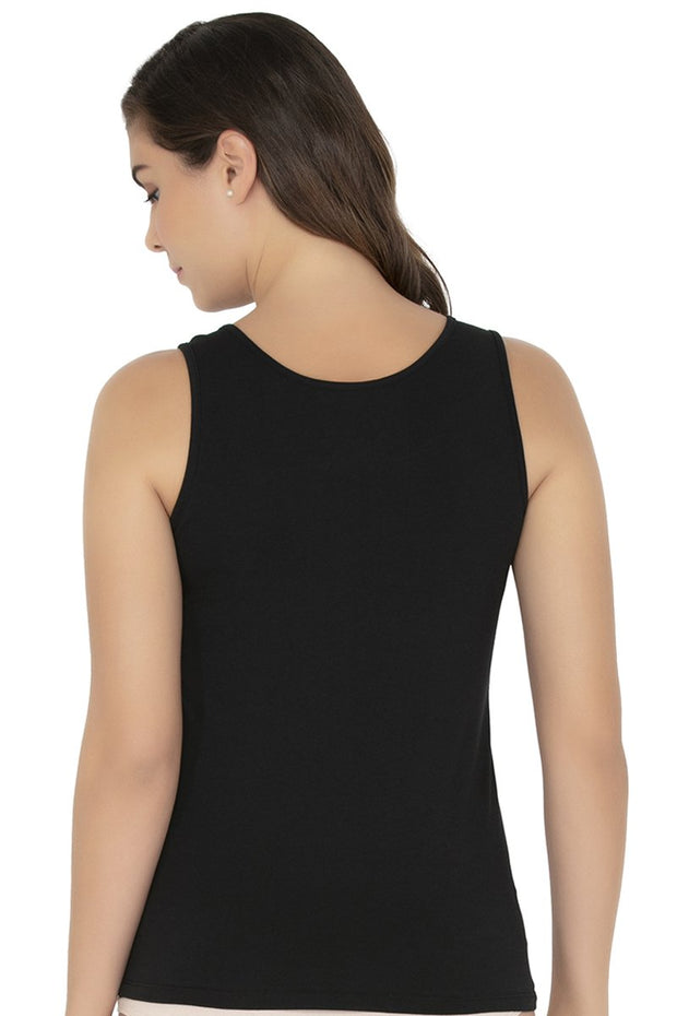 Tank Top-Black Color