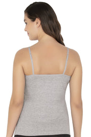 Cotton Camisole-Grey Melange Color