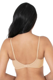 Satin Edge Padded Wirefree Bra