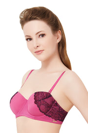 Padded Strapless Lace Convertible Bra