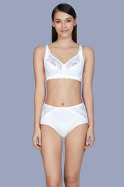 Cotton Lace Support Bra