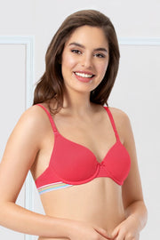 every de Sassy Stripes T-Shirt Bra - Azalea Color