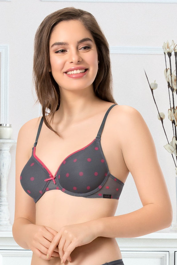 every de Bae Full Cover Underwired Bra - Steel Grey Color