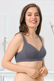 every de True Support Full Cover Bra - Steel Grey Color