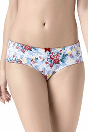 Low-Rise Hipster Panty - Red Dahlia-Monochrome Floral PrColor