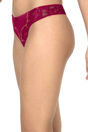 Eternal Romance Lace Thong Persian Red