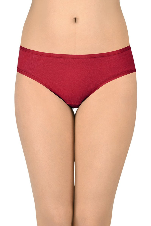 Solid Low Rise Bikini (Pack of 3)