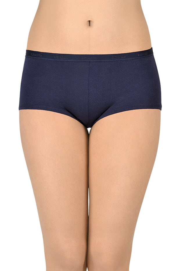 Solid Low Rise Boyshorts (Pack of 2)