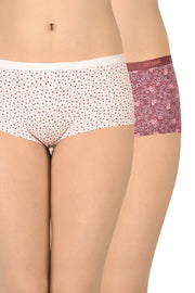 Printed Low Rise Boyshorts (Pack of 2)