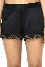 Eternal Romance Sleep Lace Shorts Black