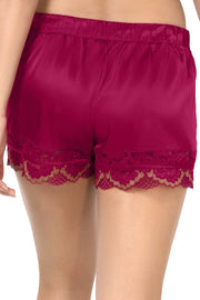 Eternal Romance Sleep Lace Shorts Persian Red