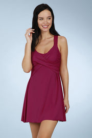 Flared Swim Dress - Amaranta Color