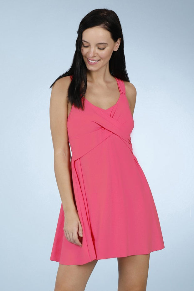 Flared Swim Dress - Maui Rose Color