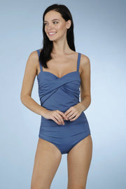 Ruched One Piece Swimwear - Globe Color