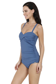 Ruched One Piece Swimwear