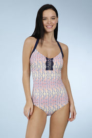 Halter Neck One Piece - Ethnic T Pr Color