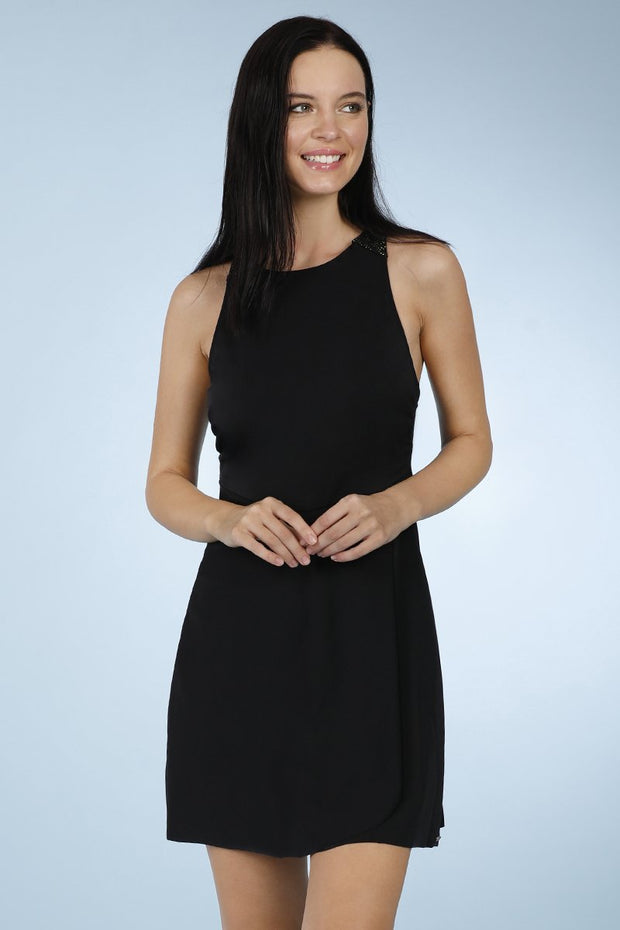 Racer Back Swim Dress - Nero Color