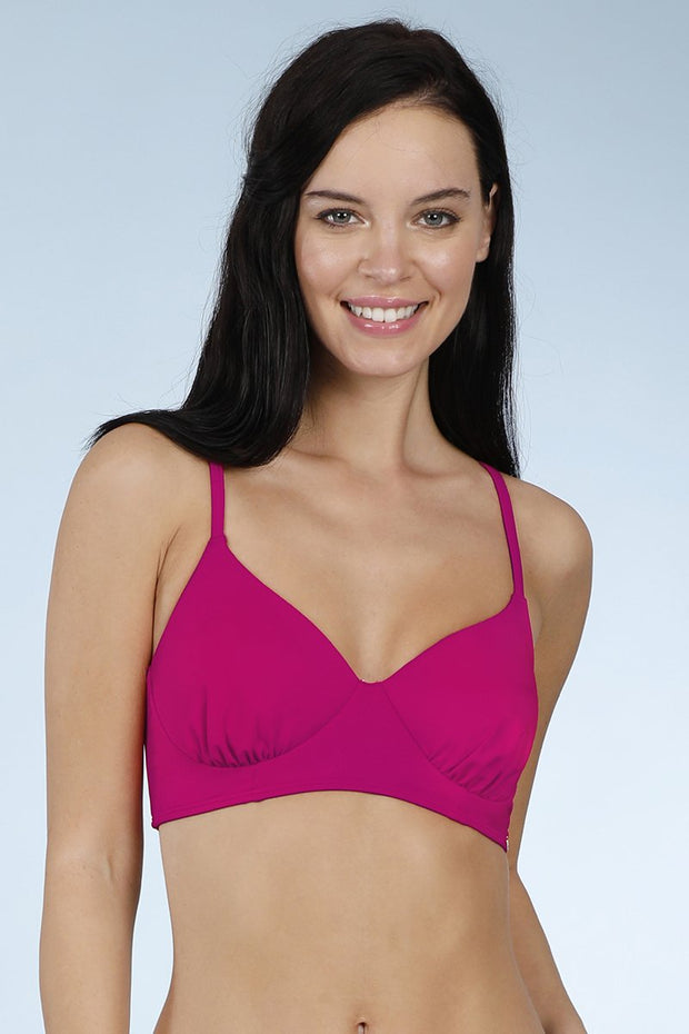 Slip On Racerback Top - Cherry Pink Color