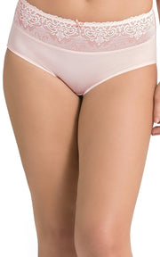 Ultimo Vintage Beauty High Rise Boyshorts - Laced Cloud PinkColor