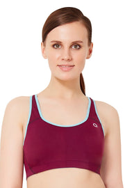 Padded Non Wired Sports Bra - Potent Purple Color