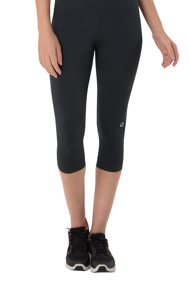 Smooth Fitness Capri Pant - Dark Grey Color
