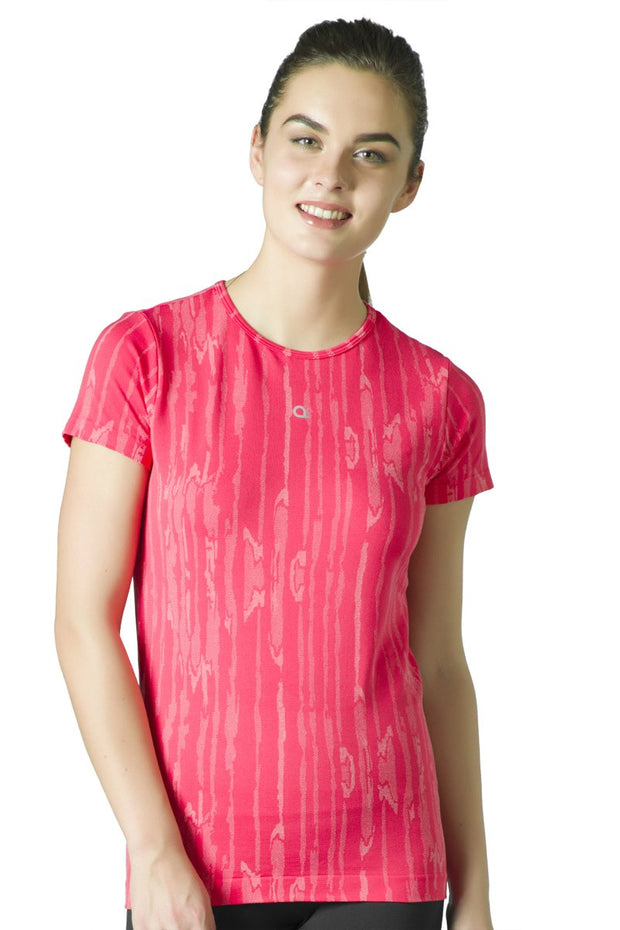 Round Neck Sports T-Shirt - Teaberry Color