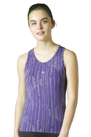 Round Neck Sports Tank Top - Petunia Color
