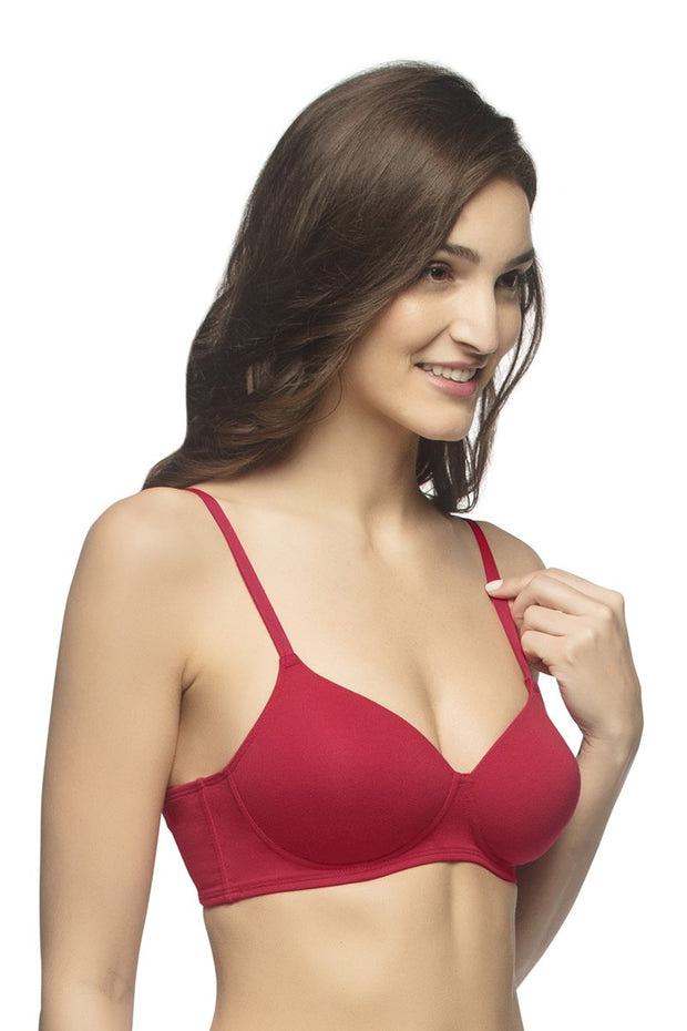 every de Carefree Casuals Padded Non-Wired T-Shirt Bra