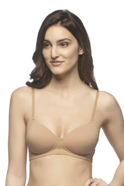 every dé Carefree Casuals Padded Non-Wired T-Shirt Bra - Sandalwood Color