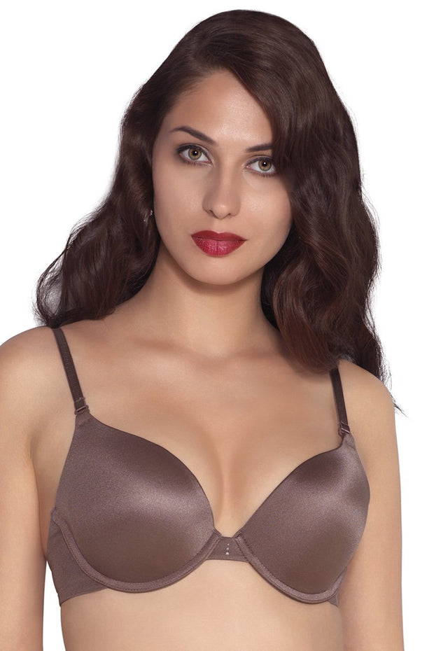 Perfect Lift Padded Wired Push-up Bra - Mushroom Color