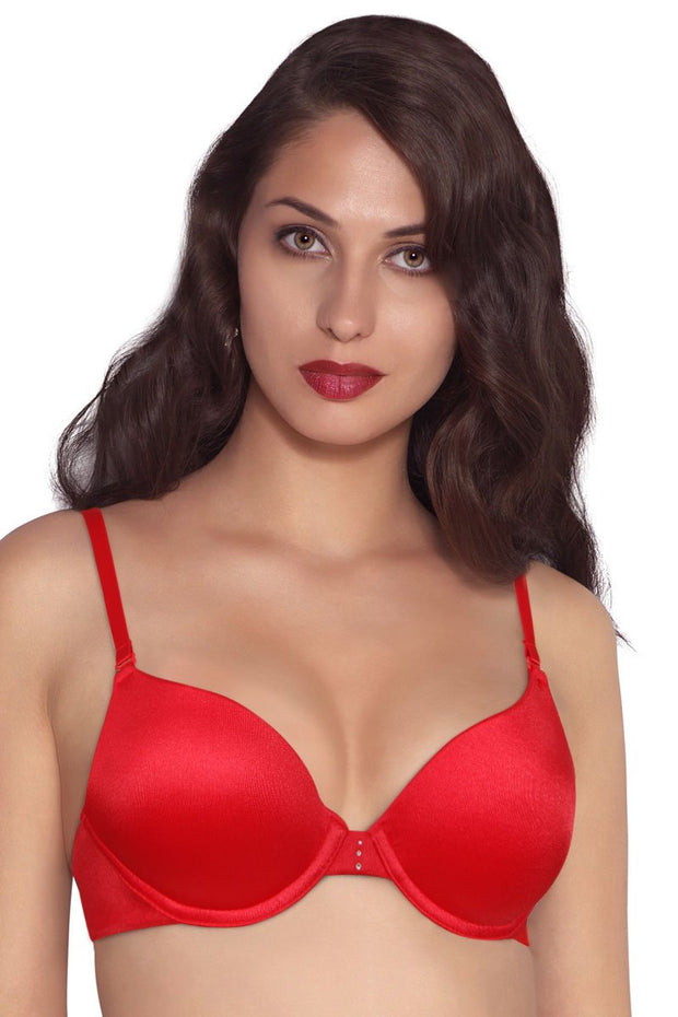 Perfect Lift Padded Wired Push-up Bra - Tiger Lily Color