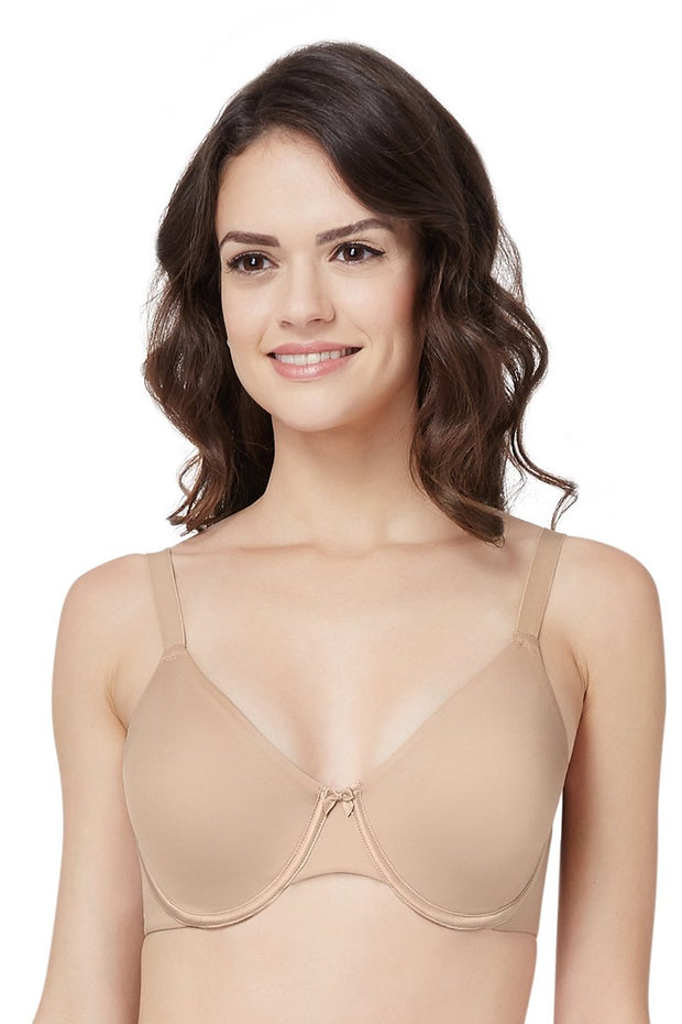 Curvy Support Minimiser Non Padded Wired Bra - Sandalwood Color