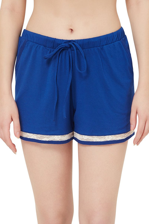 Sensuous Touch Shorts - Navy Peony Color