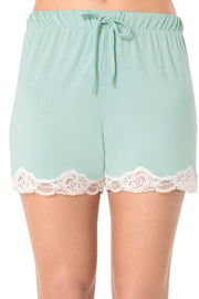 Lace Touch Shorts - Blue Haze Color