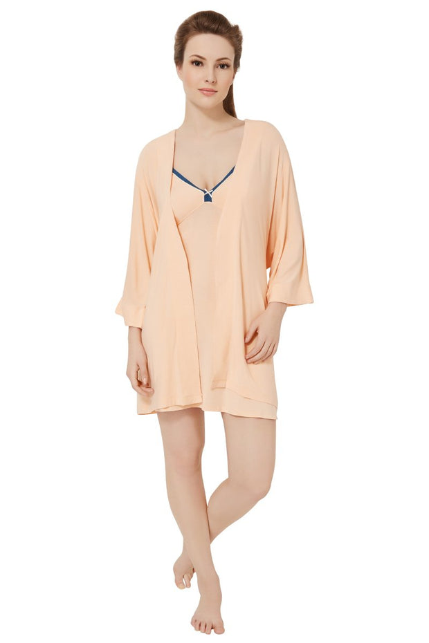Sweet Interlude Robe - Peach Parfait Color
