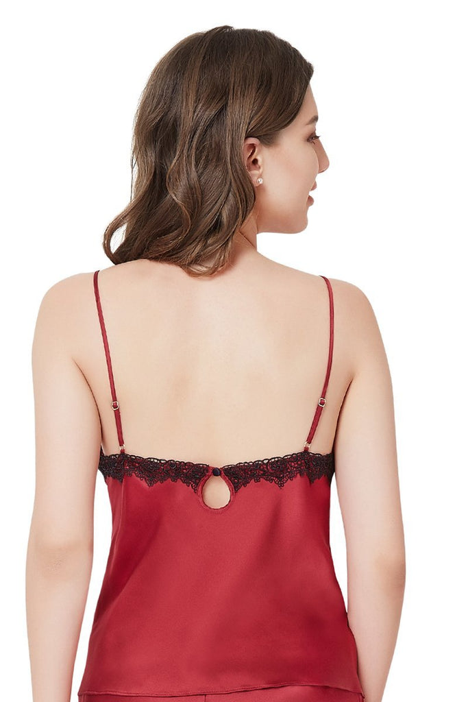 RED BUD | luxury-silk-red-sleep-cami