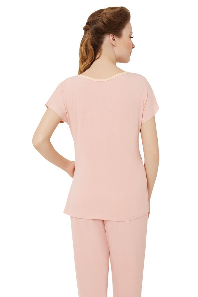 LIGHT CORAL | coral-pink-sweet-interlude-sleep-t-shirt