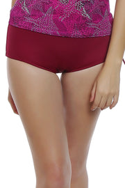 Ruched Waist Swim Bottom - Red Fruit Color