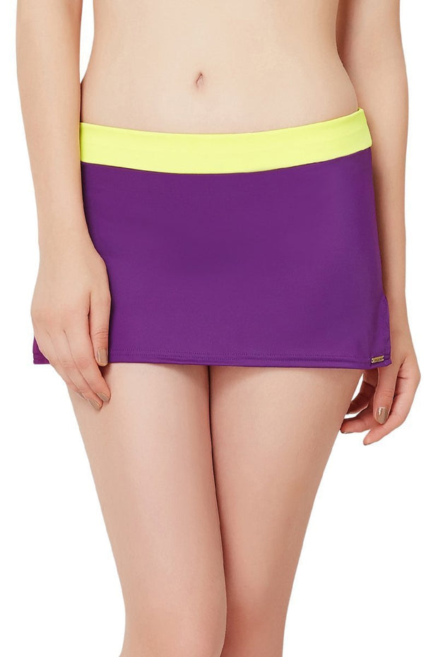 Mid Rise Swim Skirtini - Blackberry-Lemonade Color
