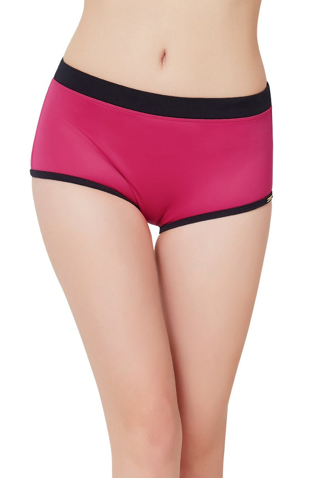 Mid Rise Swim Boyshort - Fresia Color
