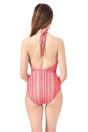 High Neck One Piece Swimwear
