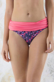 Ruched Waist Swim Bottom - Tribal Pr Color